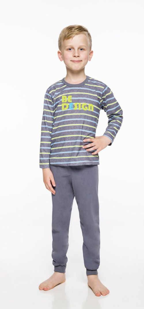 pruhované dlouhé pyžamo chlapecké