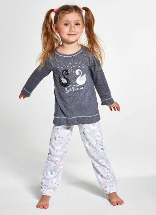 Dětské kvalitní bavlněné pyžamko s obrázkem labutí