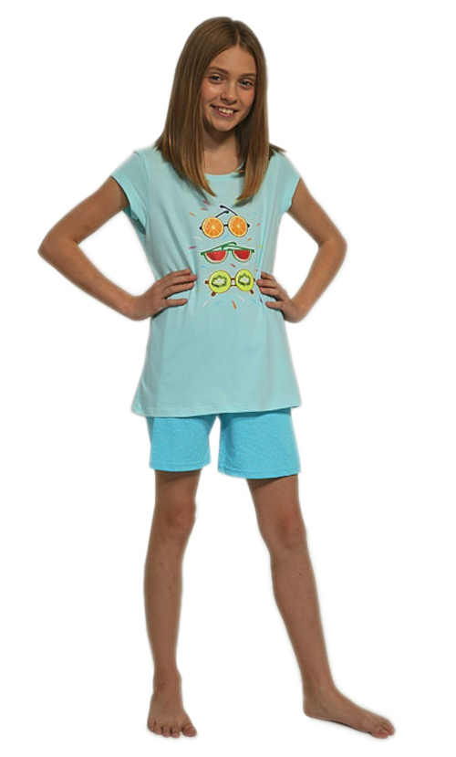 Dívčí moderní pyžamo z kvalitní bavlny s potiskem vpředu
