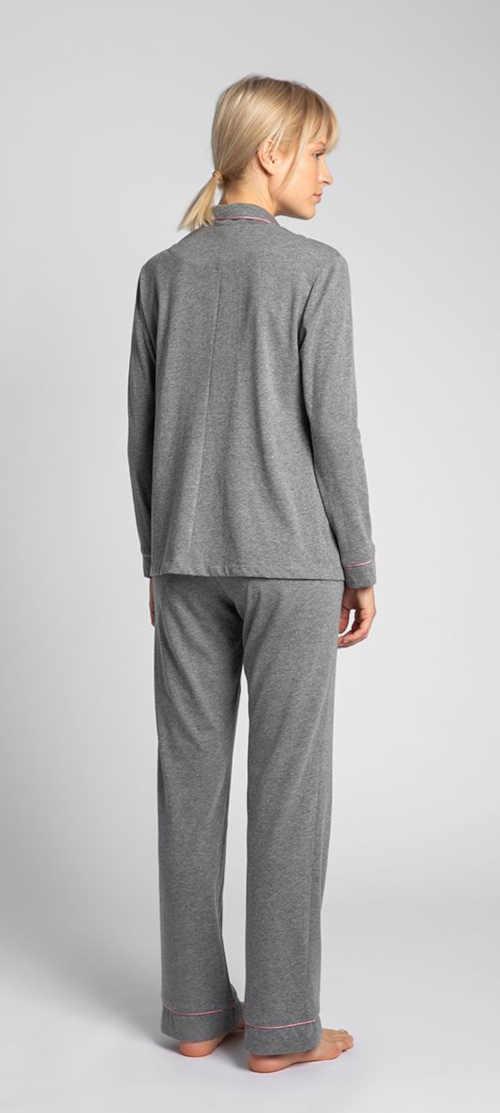 pyžamový vršek šedý na knoflíky