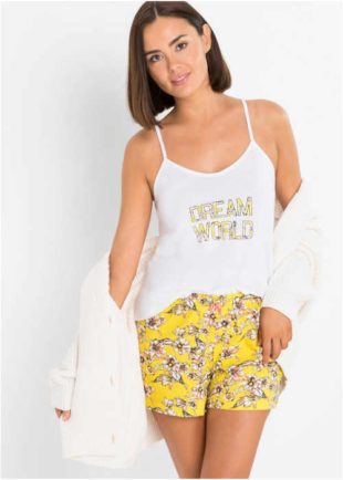 Bavlněné krátké dámské pyžamo ve svůdném provedení