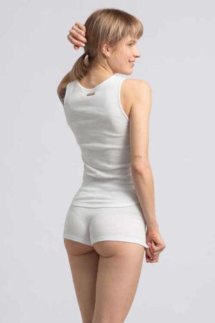 Bílé pyžamové šortky z kvalitního bavlněného materiálu