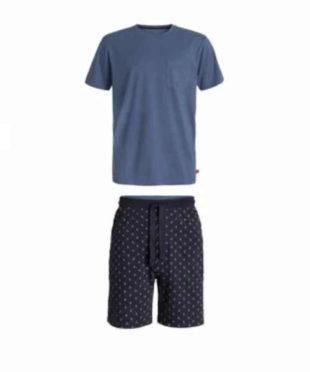Pánské bavlněné krátké pyžamo v moderním potisku