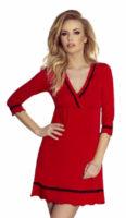 Červená dámská noční košilka Eldar Lea třičtvrteční rukávy