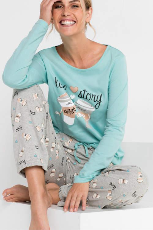 Levné dámské pyžamové kalhoty Bonprix