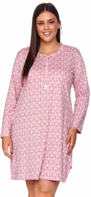 Dámská noční košilka Patricia ze 100% bavlny pro pohodlí plných tvarů