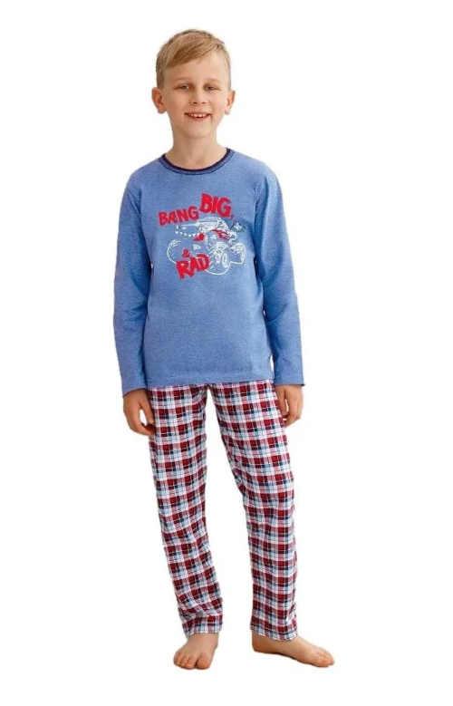 Bavlněné chlapecké pyžamo s potiskem v moderním stylu