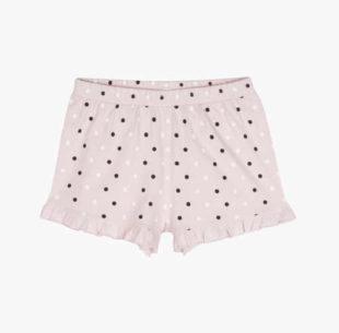 Moderní pyžamové bavlněné šortky zdobené puntíky