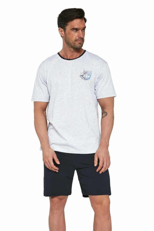 Pánské stylové krátké pyžamo Cornette z kvalitní bavlny