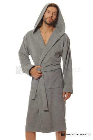 Pánský stylový župan s kapucí z příjemného froté materiálu
