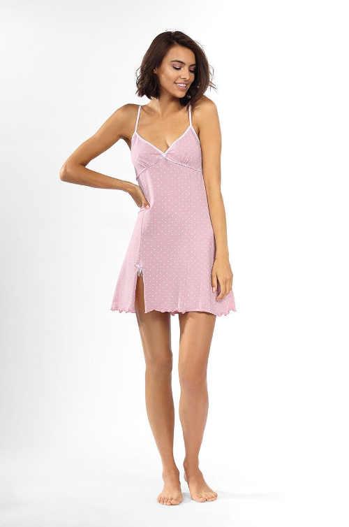 růžová dámská noční košilka