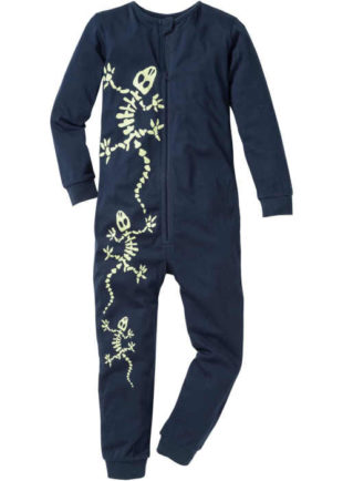 Chlapecký overal z bavlny na spaní se svítícím potiskem