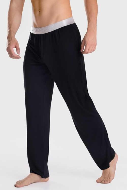 Pánské dlouhé pyžamové kalhoty z modalového materiálu