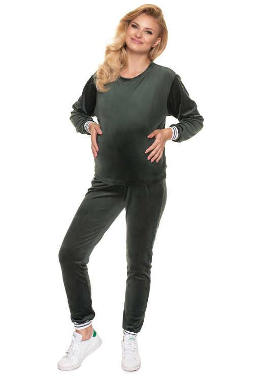 pyžamo těhotenské tmavě zelené